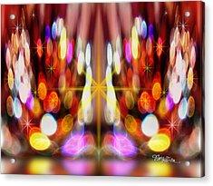 Sparkles #8885_2 Acrylic Print by Barbara Tristan