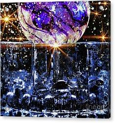 Sparkling Glass Acrylic Print