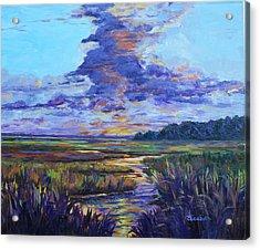 Sparkling Marsh Acrylic Print by Beth Maddox