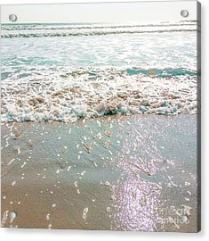 Acrylic Print featuring the photograph Sparkly Surf by Cindy Garber Iverson