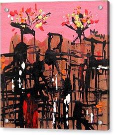 Sparks- Pink Sky Acrylic Print by Mary Carol Williams