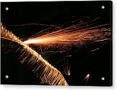 Sparks Will Fly Acrylic Print by Kristin Elmquist