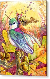 Sparrow's Song Acrylic Print by Sara Burrier