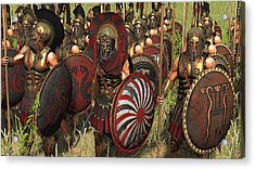 Spartan Warriors Before The Battle Acrylic Print