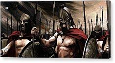 Spartans 300 Acrylic Print by James Shepherd