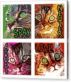 Spay Neuter Adopt Love Acrylic Print