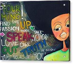 Speak Acrylic Print