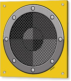 Acrylic Print featuring the digital art Speaker by Ron Magnes