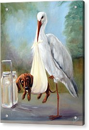 Special Delivery Acrylic Print by Stella Violano