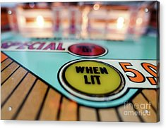 Special When Lit Vintage Pinball Machine Acrylic Print