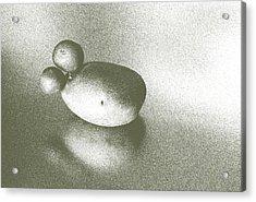 Speckled Silvery Spud Acrylic Print