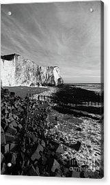 Spectacular Cliffs At Seaford Head Sussex England Acrylic Print by James Brunker