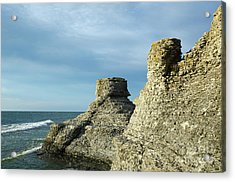 Acrylic Print featuring the photograph Spectacular Eroded Cliffs  by Kennerth and Birgitta Kullman