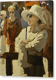 Spectators Acrylic Print by David Simons