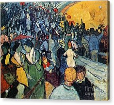 Spectators In The Arena At Arles Acrylic Print by Vincent Van Gogh