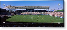 Spectators Watching A Soccer Match Acrylic Print by Panoramic Images
