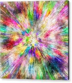 Spectral Tie Dye Starburst Acrylic Print