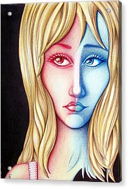Acrylic Print featuring the drawing Spectrum by Danielle R T Haney
