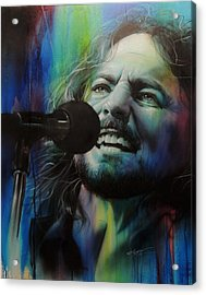 Eddie Vedder - ' Spectrum Of Vedder ' Acrylic Print by Christian Chapman Art