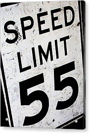 Speed Limit Acrylic Print by Audrey Venute