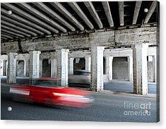 Speeding Car Acrylic Print
