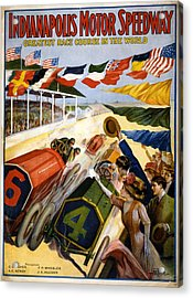 Speedway Acrylic Print by Charles Shoup