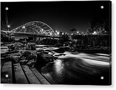 Speer Blvd. Bridge Acrylic Print by Richard Raul Photography