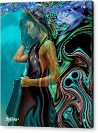 Acrylic Print featuring the digital art Spell Of A Woman by Seth Weaver