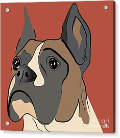 Spencer Boxer Dog Portrait Acrylic Print