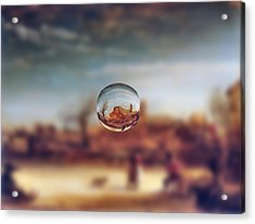 Sphere 14 Rembrandt Acrylic Print by David Bridburg