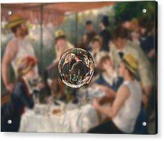 Sphere 4 Renoir Acrylic Print by David Bridburg