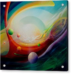 Sphere Q2 Acrylic Print by Drazen Pavlovic