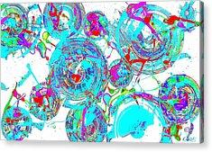 Spheres Series 1511.021413invfddfs-sc-2 Acrylic Print by Kris Haas