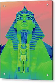 Sphinx And Pink Sky Acrylic Print by Karen J Shine