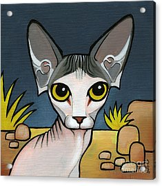 Sphinx Cat Acrylic Print by Leanne Wilkes