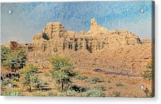 Sphinx Of Hungol National Park Acrylic Print by Syed Muhammad Munir ul Haq