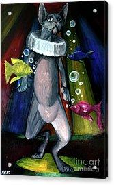 Sphynx Clown Acrylic Print