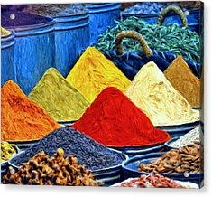 Spice Market In Casablanca Acrylic Print