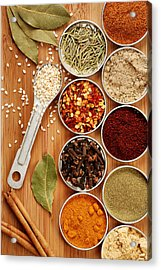 Spices Acrylic Print by HD Connelly