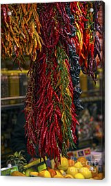 Spicy Peppers Acrylic Print