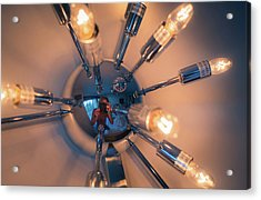 Acrylic Print featuring the photograph Spider Light Reflected Portrait by T Brian Jones