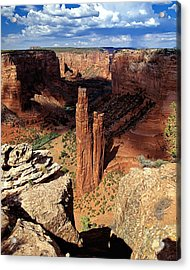 Spider Rock Canyon De Chelly Arizona Acrylic Print by George Oze
