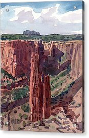 Spider Rock Overlook Acrylic Print by Donald Maier