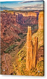 Spider Rock Sunset - Canyon De Chelly National Monument Photograph Acrylic Print