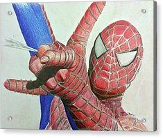 Spiderman Acrylic Print by Michael McKenzie