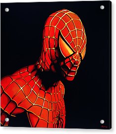 Spiderman Acrylic Print by Paul Meijering