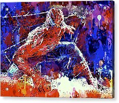 Acrylic Print featuring the mixed media Spiderman  by Al Matra