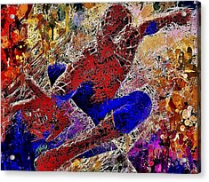 Acrylic Print featuring the mixed media Spiderman 2 by Al Matra