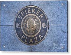 Spieker Plaza Monument At University Of California Berkeley Dsc6305 Acrylic Print