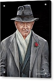 Spiffy Old Man Acrylic Print by Judy Kirouac
